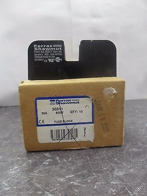 New Lot Ferraz Shawmut 30311 Fuse Holder Block 30 Amps 600 Volts 1 Pole NIB