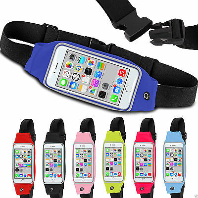 For Apple Iphone 7 - Sports Running Jogging Gym Waist Band Bum Bag Case
