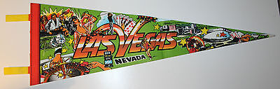 "Las Vegas Nevada USA Vintage Pennant 25"" Gambling Convention Center Sports"
