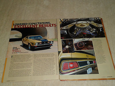 1972 FORD MUSTANG MACH 1 article / ad