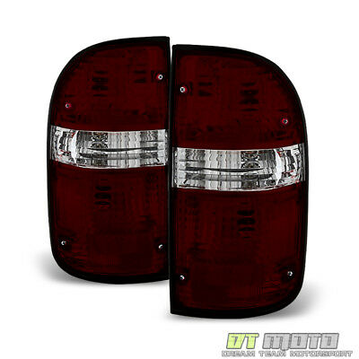 2001 2002 2003 2004 Toyota Tacoma Red Smoked Tail Lights Brake Lamps Left+Right