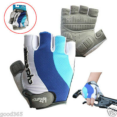Fashion Cycling Gloves Bike Bicycle GEL Shockproof Sports Half Finger Gloves Hot