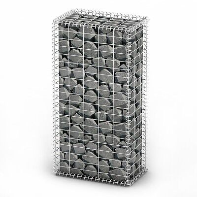New Gabion Wall 4mm Strong Metal Gabions Basket Cage 100x50cm Galvanized Steel
