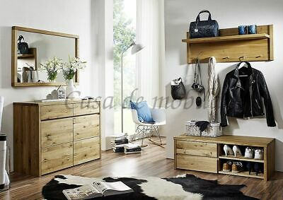 massivholz garderoben set 3teilig eiche ge lt dielen m bel flur garderobe eur. Black Bedroom Furniture Sets. Home Design Ideas