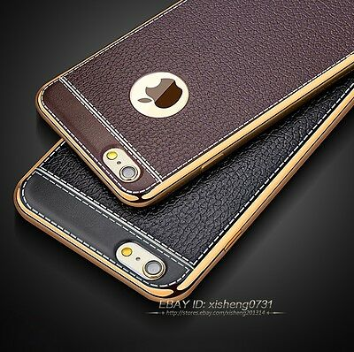 For New iPhone 7 7 Plus 6 6s Luxury Ultra-thin PU Leather Soft Phone Case Cover