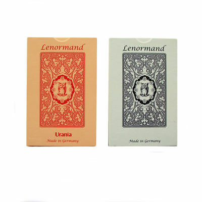 1 x Blue / Red Owl Fortune Telling by Mlle Lenormand 36 Cards Deck