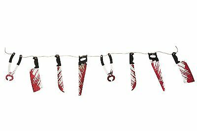 Bloody Weapon Garland (10pcs), Halloween Party Prop/Room Decoration #CA