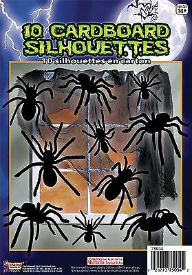 Silhouette Shadow Spiders 10pc , Halloween Party Prop/Room Decoration #CA