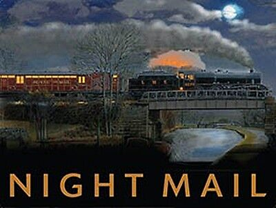 Night Mail Train (old rail ad.) small steel sign 200mm x 150mm (og)