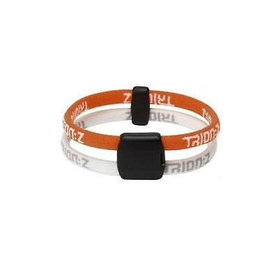 Trion:Z DUAL LOOP Ionic & Magnetic Bracelet - Orange White (Small 16cm)