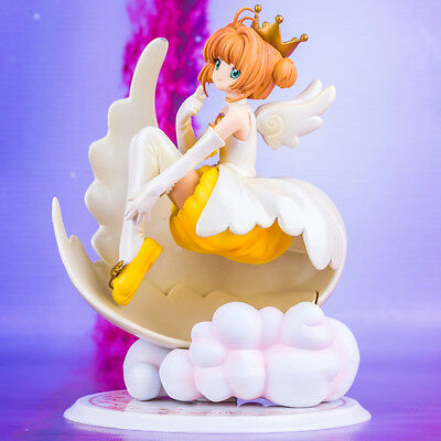 "Japan Anime Card Captor Sakura Kinomoto Sakura Angel Crown  7"" PVC Figure NIB"