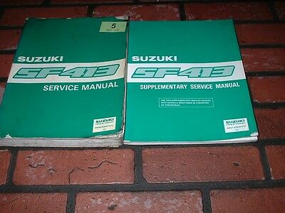 Genuine Suzuki Sf413 Swift Service Manuals.1991