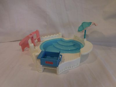 Fisher Price Loving Family Dream Dollhouse Swimming Pool & Barbeque Vintage