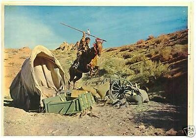 Gregory Peck How The West Was Won Lobby Card Original Indian On Horse Attack
