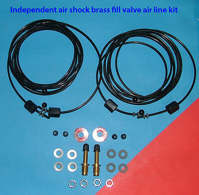 GABRIEL AIR SHOCK hose kit with Independent Shock Brass fill valve option