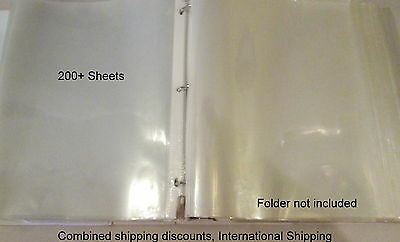 B18 Sheet Protectors Sleeves Top-Loading Letter Clear 8.5 x 11 lot of 200+