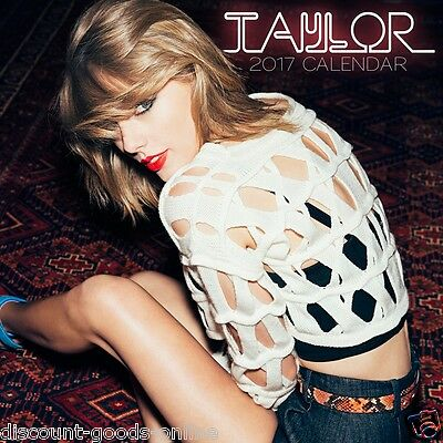 Taylor Swift 2017 Calendar. Square Calender