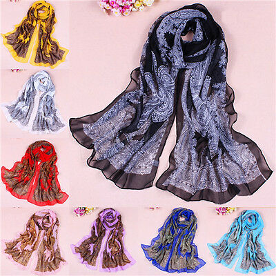 Bohemia Women Lady Pretty Long Soft Chiffon Scarf Wrap Shawl Stole Scarves New H