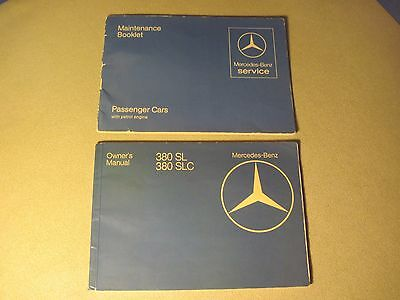 """1981 Mercedes 380Sl 380Slc Owners Manual Original And """"fast Free U.s. Shipping"""""""