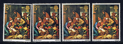 Great Britain #522(1) 1967 3 pence Adoration of Shepherds, Seville 4 MNH