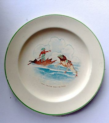 Tom Thumb & The Frog Vintage Homer Laughlin Child's Plate