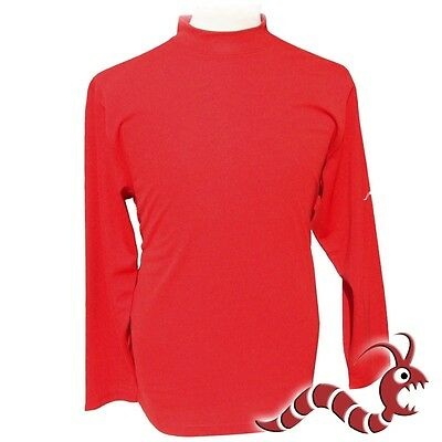 Woodworm Golf Clothes Mock Long Sleeve Red 3Xl