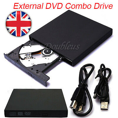 New External USB 2.0 DVD Rom Drive CD RW Writer Player For Netbook/PC/Laptop