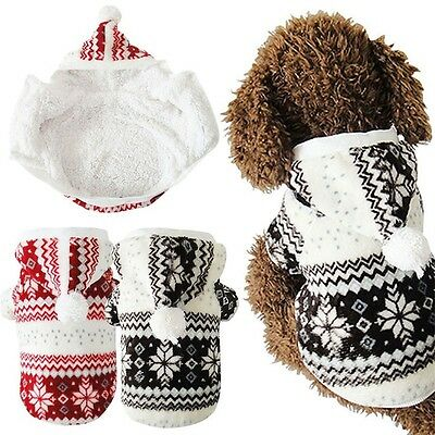 Fashion Warm Winter Hoodie Jumpsuit Coat Clothes Costume For Pet Dog Puppy YG