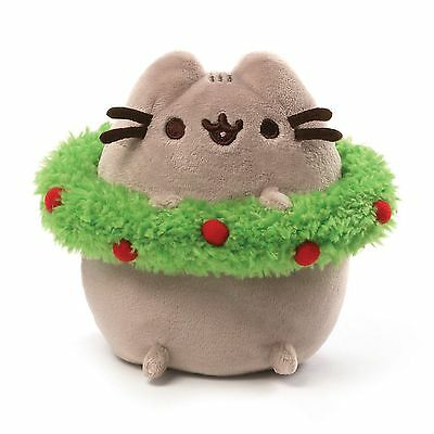 Gund - Pusheen Christmas with Wreath - 4.5""