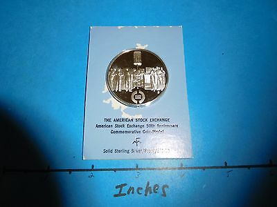 American Stock Market Exchange 50Th Anniver 1972 Vintage Silver Coin Mint Sealed
