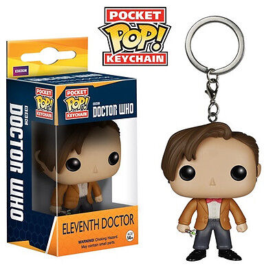 Doctor Who Eleventh Doctor Figure Pocket Pop! Keychain Key Ring, NEW UNUSED
