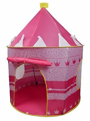 Girls Pink Princess Castle Childrens Play House Indoor / Outdoor Tent For Kids