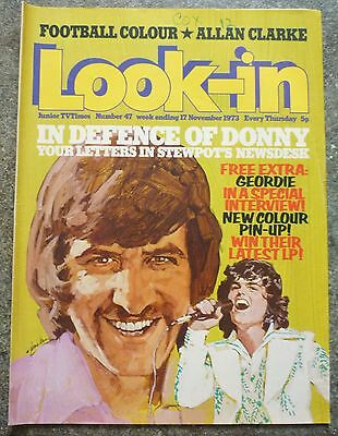 LOOK-IN MAGAZINE No.47 1973 DONNY OSMOND GEORDIE TOMORROW PEOPLE EXC