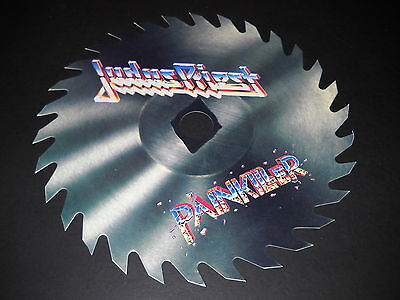JUDAS PRIEST 1990 Promo cut-to-shape BUZZ SAW Display for PAINKILLER mint cond.