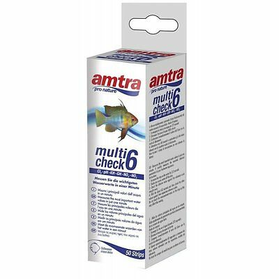 Test Acquario Amtra Multicheck 6 in 1 Cl2 GH pH KH NO2 NO3
