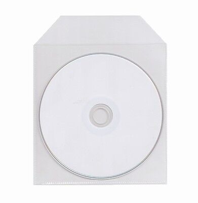 3000 Thin CPP Clear Plastic CD DVD Sleeve with Flap 60 Microns