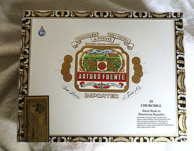 Arturo Fuente Churchill Select Long Filter Paper Covered Cigar Box - Beautiful!