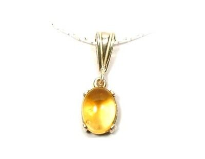 18thC Antique Scotland 2ct Citrine Ancient Roman Gem of Healing God Aesclepius