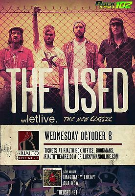 THE USED/LETLIVE./THE NEW CLASSIC 2014 TUCSON CONCERT TOUR POSTER - Emo Music