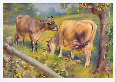 Farming Landscape Print Farm Animal Dairy Cattle Jersey Cow Bovinae Livestock