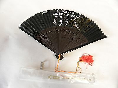 Vintage SAS Scandinavian Airlines Advertising Promotional Hand Fan (A3)