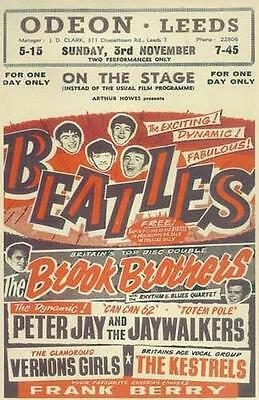 The Beatles Odeon Leeds Concert  Poster