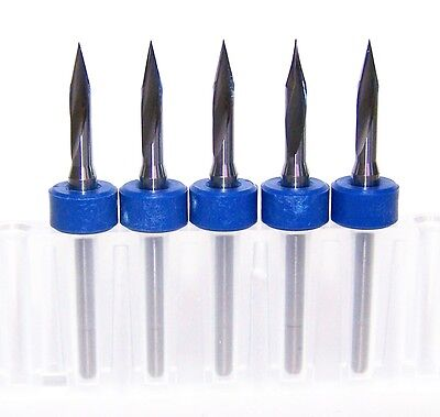 (5) - 30 degree carbide bits for scoring or engraving, sharp point Kyocera