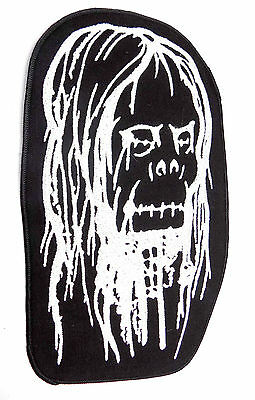 Shrunken Head Zombie Motorcycle MC Biker Large Back Patch HEY-0099