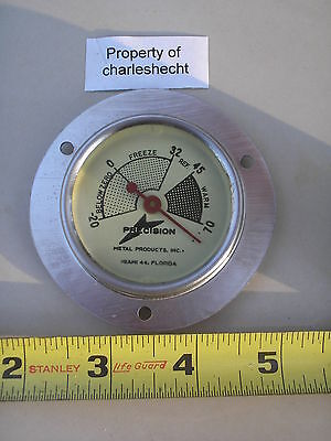Freezer Thermometer Precision Metal Products / Vintage / New Old Stock