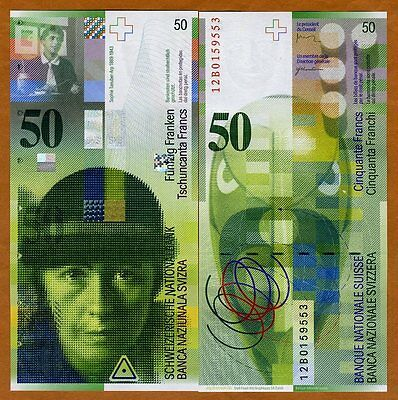 Switzerland, 50 Francs, 2012, P-71,  UNC