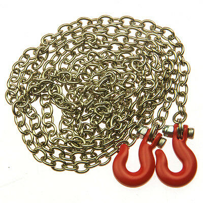 1:10 Scale Chain with Hooks 890mm long RC Crawler Truck Accessory Red