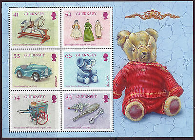 Guernsey 2015 Old Toys, Teddy Bear, Europa  Unmounted  Mint, Mnh Miniature Sheet