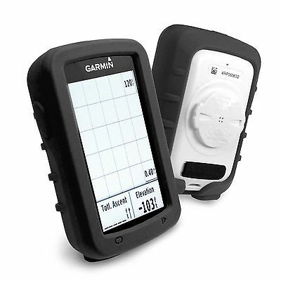 Tuff-Luv Silicone Gel Skin Case and Screen Cover for Garmin Edge 820 - Black