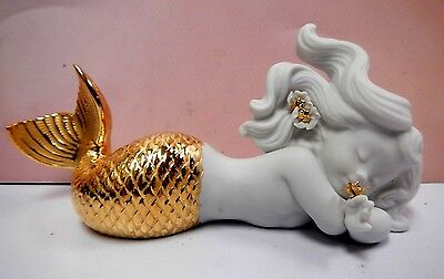 Mermaid Day Dreaming At Sea (Golden Re-Deco) By Lladro  #8560